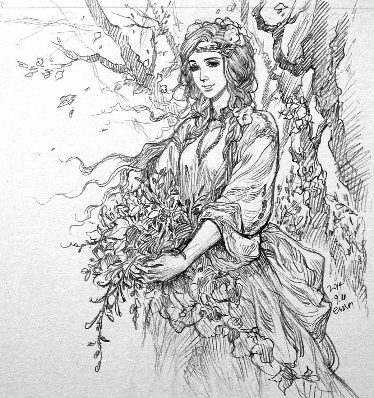 Yavanna. в 2019 г. | Толкин, Рисунки и Средиземье