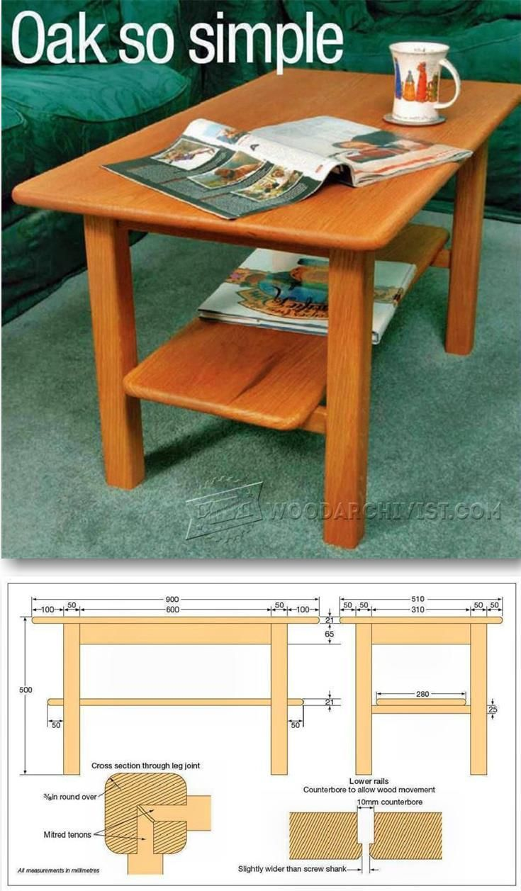 Stupendous Solid Oak Coffee Table Plans Furniture Plans And Projects Creativecarmelina Interior Chair Design Creativecarmelinacom