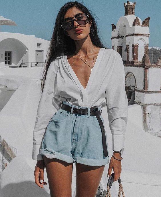 30 Best Short Jeans Outfit For Women - Bafbouf