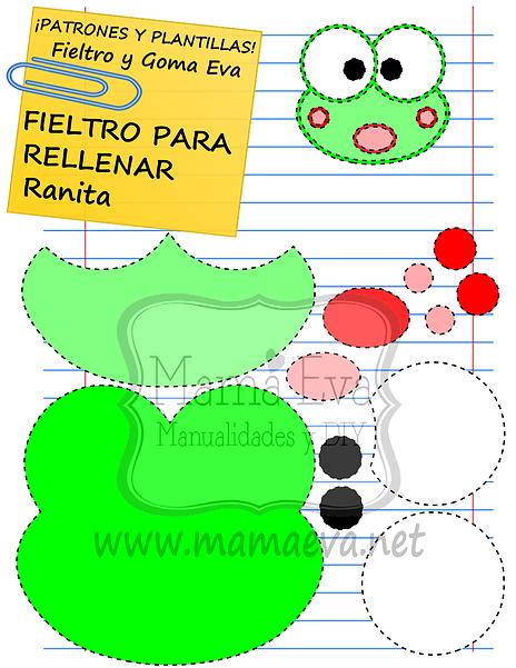 Plantillas de goma eva de animales | Crafts | Pinterest | Frogs ...