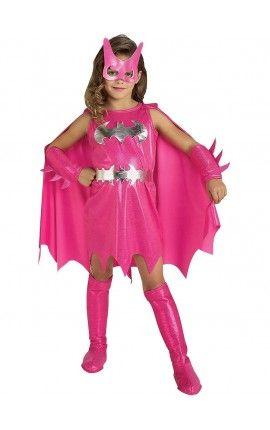Disfraz de Batgirl rosa niña  a40e257c7430