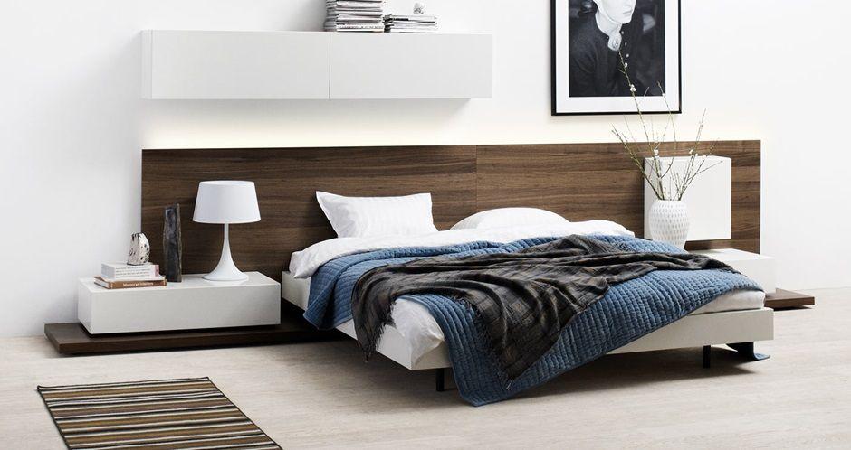 Muebles modernos de dormitorio - Calidad BoConcept respaldo cama