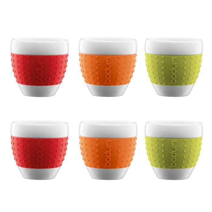 Bodum Pavina Single Wall Espresso Cups Set W Silicone Grip