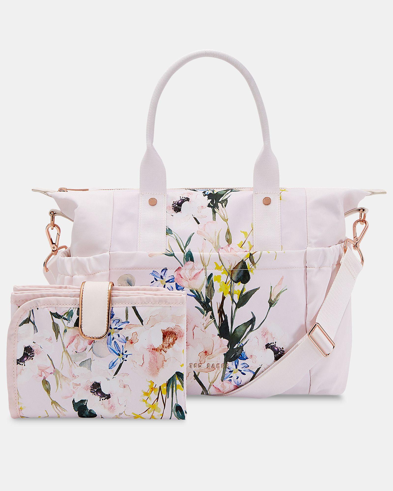 Bnwt Ted Baker Black Opal Nylon Tote /& Clutch Large Foldaway Shopper Weekend Bag