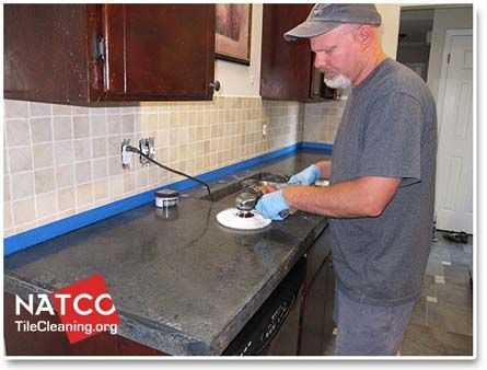 Buffing Concrete Countertop Concrete Countertops Kitchen