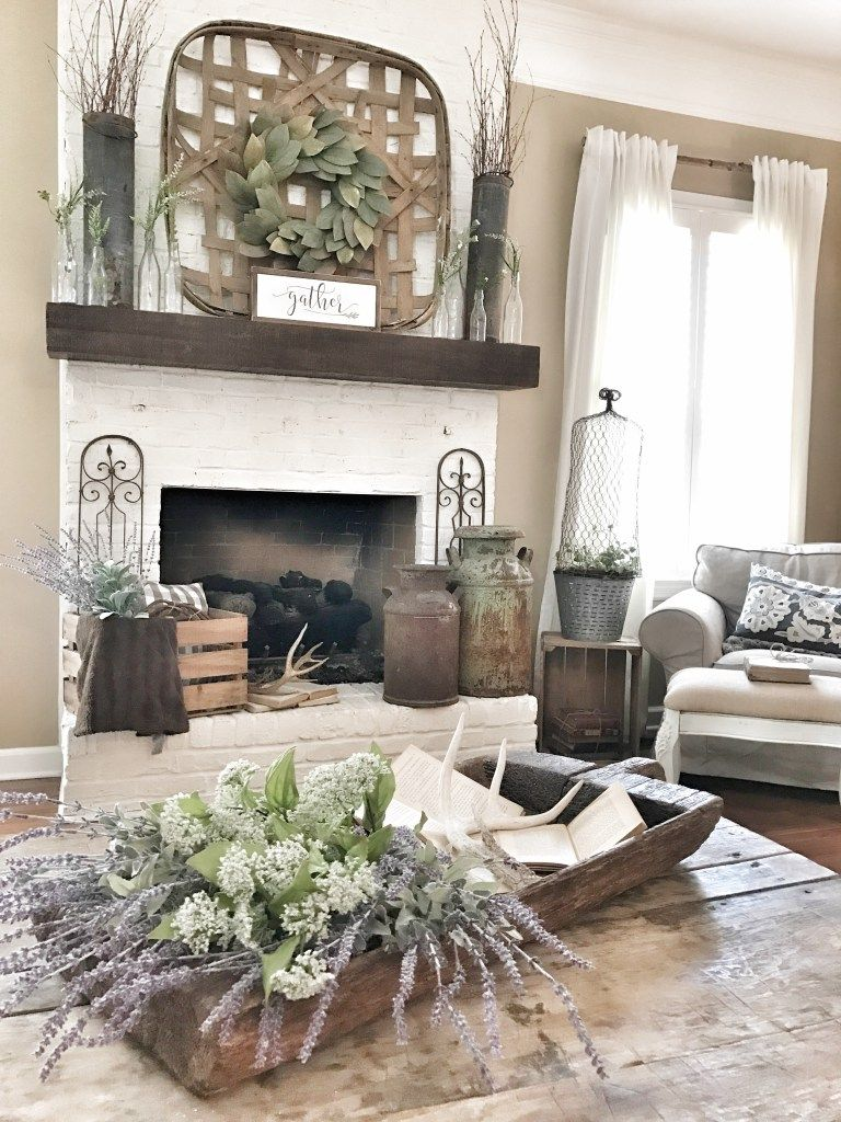 How To Paint Your Outdated Brick Fireplace Bless This