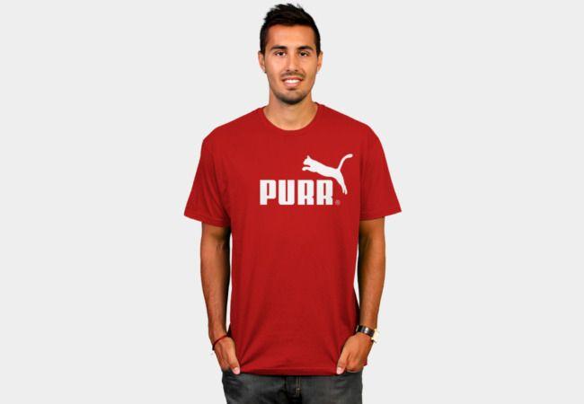 Purr Purrr T-Shirt - Design By Humans #kitty #parody #cat #puma #design #illustration #streetwear #apparel #cool