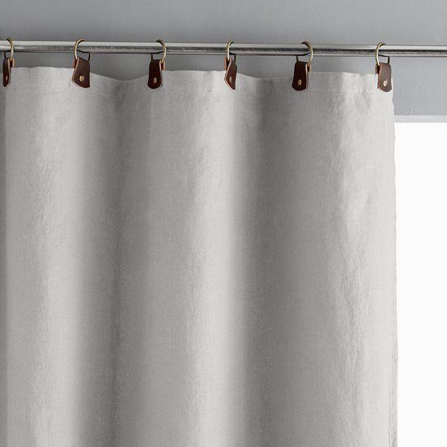 Rideau lin lavé doublé, passants cuir, Private | Home | Pinterest ...