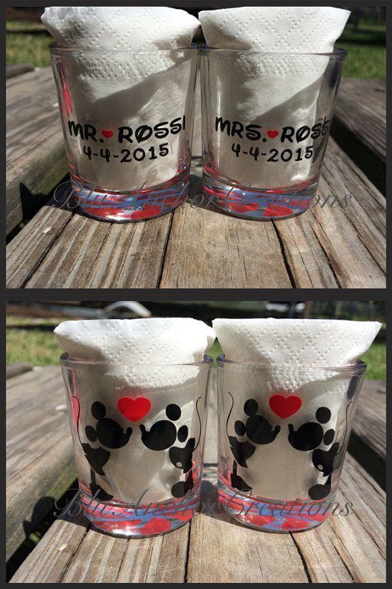 Mickey & Minnie Shotglass / Personalized Glasses Mickey
