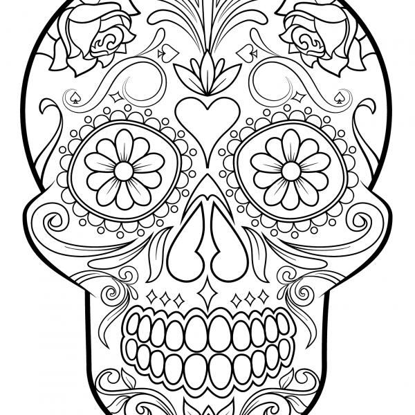 Dibujos De Calaveras Para Colorear Drawins Skull Coloring Pages