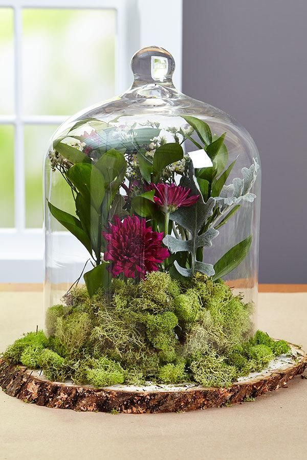 Diy wedding centerpieces floral cloche arranjos vidro decorativo diy wedding centerpieces floral cloche junglespirit Gallery