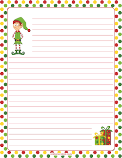Elf Stationery  Christmas  Winter Stationery Only