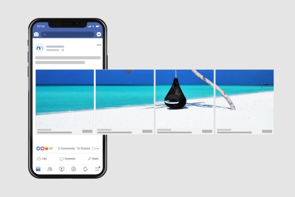 Facebook Carousel Ad Mockup Template Mediamodifier Facebook Carousel Ads Carousel Ads