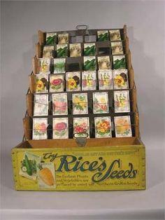 vintage seed packet display