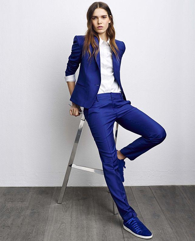 pantalon tailleur en laine vrikala couleur imperial blue shopping pinterest tailleur. Black Bedroom Furniture Sets. Home Design Ideas