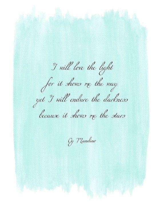I will endure - Inspirational watercolour quote art - 8x10 print