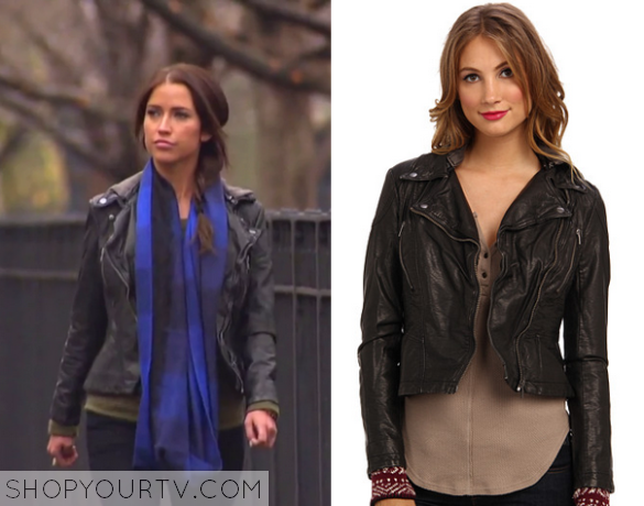 The Bachelorette Season 11 Episode 5 Kaitlyns Leather Hooded Jacket