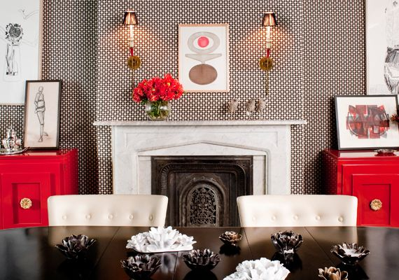 Get the Look Decor Beyond Black and White Wallpaper, Black dining