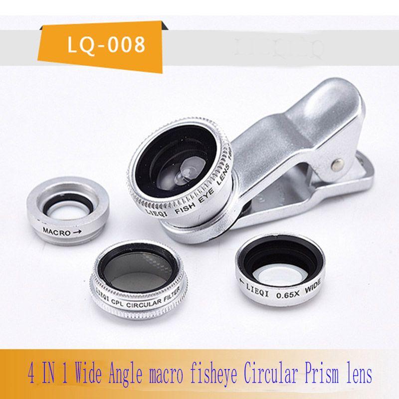 Mobile phone lens 4 in 1 fish eye lenses wide angle macro