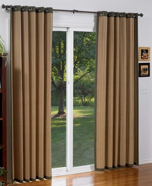 Bamboo Curtains With Images Sliding Door Curtains Living Room