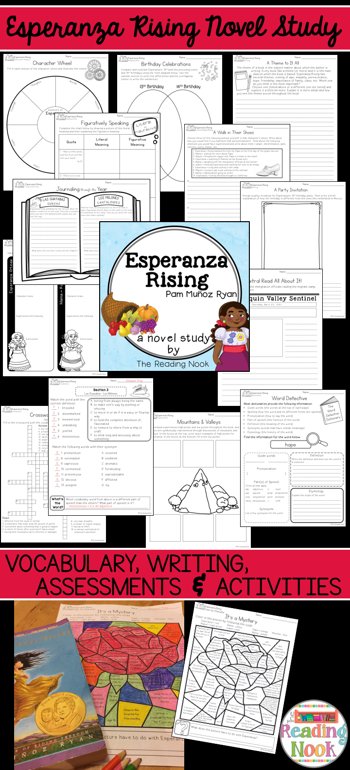 worksheet Esperanza Rising Vocabulary Worksheets esperanza rising novel study novels literacy and language arts complete including vocabulary writing reading skills assessments