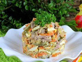 салат с куриными сердечками рецепт кружевница