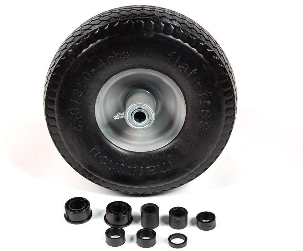 10 1 2 In X 3 1 3 In Flat Free Solid Replacement Wheel Tire For Hand Trucks Marathon Hand Trucks Wheels For Sale Free Tire