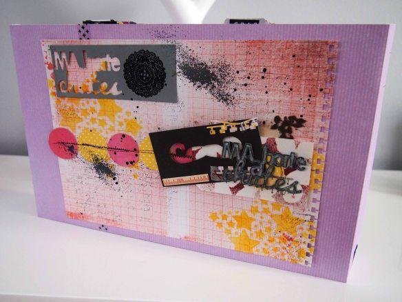 Ma boîte à chutes by Lisou pour Infocrea - Trieur transformé et customisé pour ranger les chutes de papier