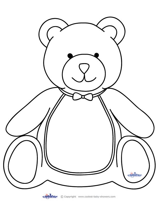 Large Printable Teddy Bear Teddy Bear Template Teddy Bear Crafts Teddy Bear Patterns Free
