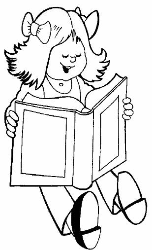 Kütüphane Haftası Boyama Sayfalari School Clipart Coloring