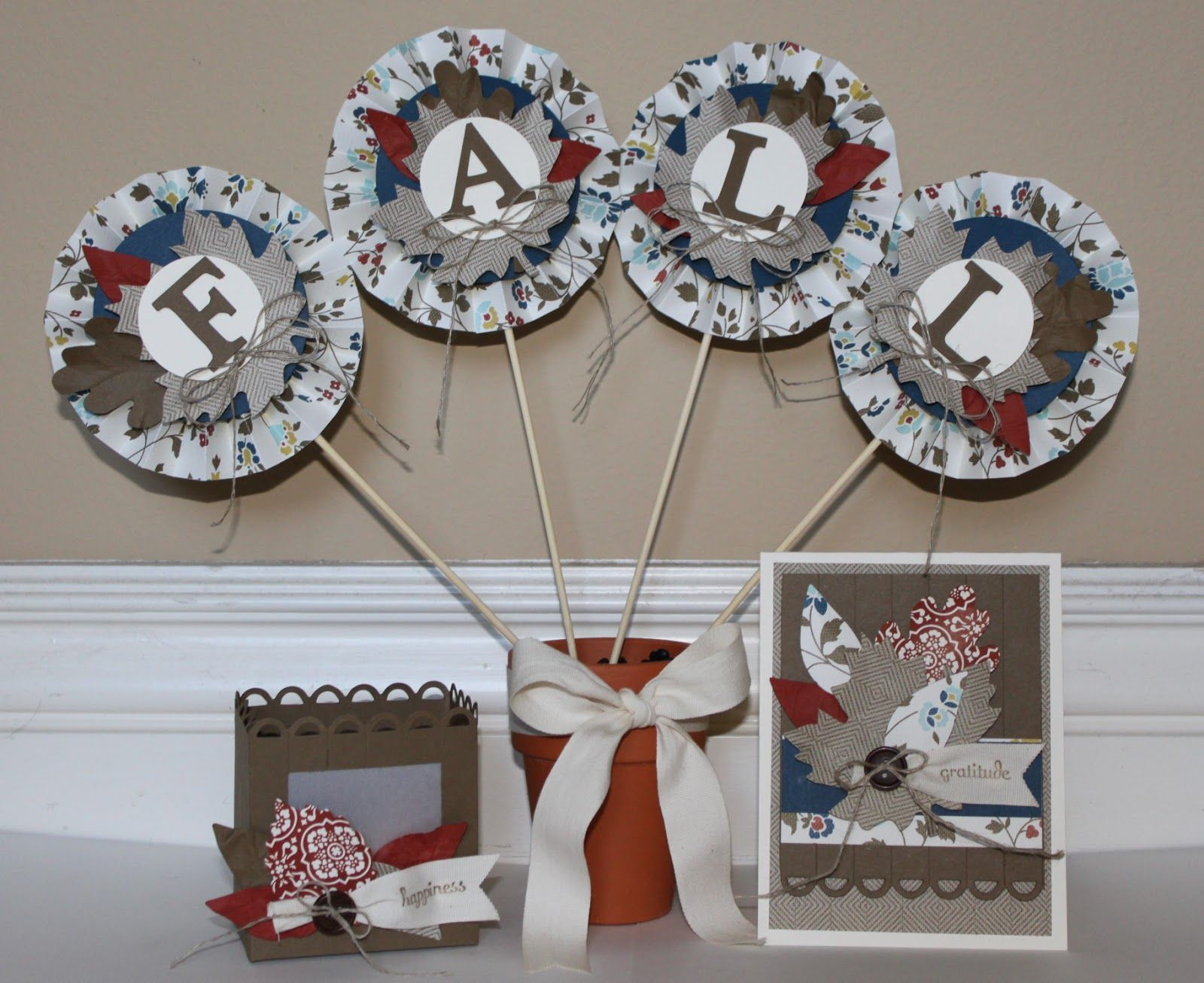 Just Julie B's Stampin' Space: Fall Happiness Decor Set