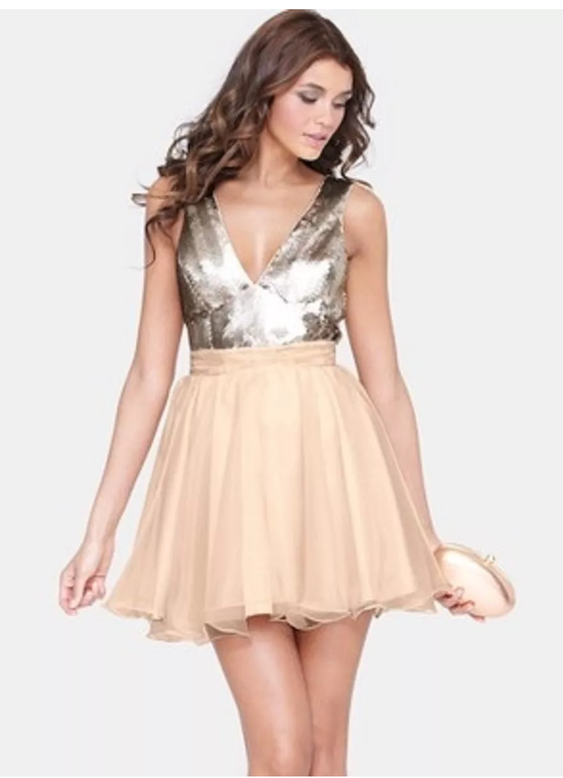 Awesome Great BNWT Lipsy Sequin Gold Skater Sparkly Dress Size 12 R ...