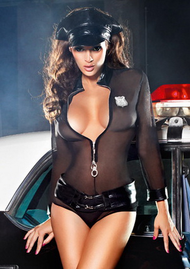 Sexy Halloween Mesh Cop Costume Police Officer Cosplay For Erotic Women  Night Club Wear Party Lingerie