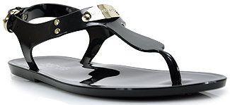 bac1b434aa13 ShopStyle  Michael by Michael Kors - MK Plate Jelly - Black Rubber Jelly  Thong Sandal