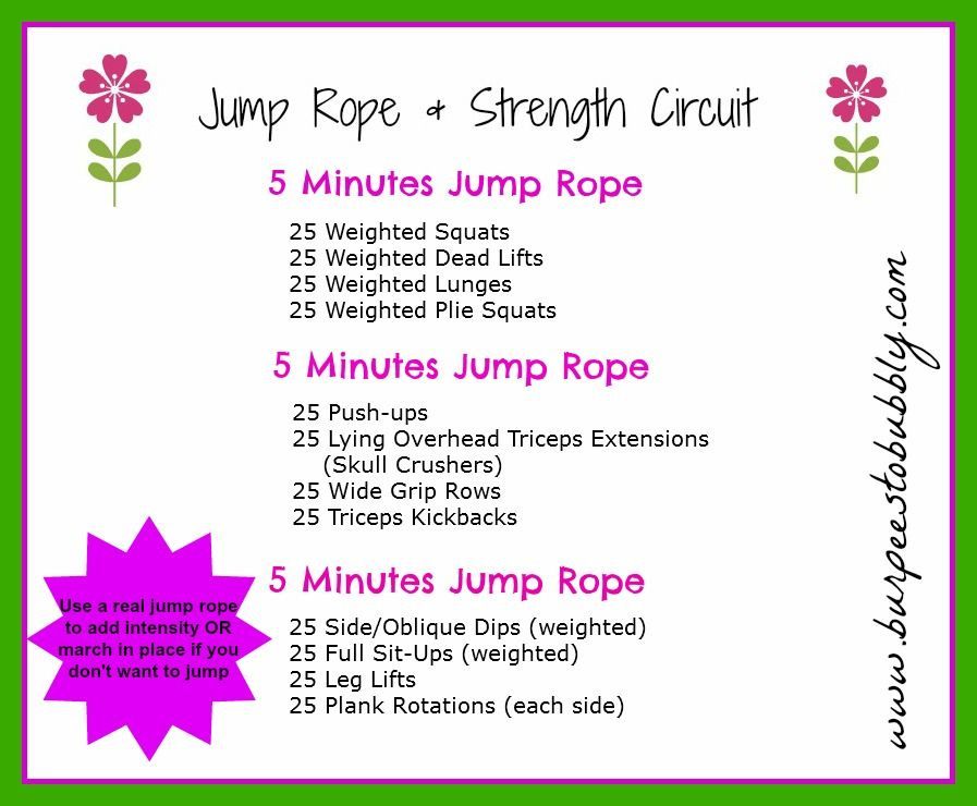 Jump Rope Strength Circuit Workout Circuit Workout Wednesday Workout Jump Rope
