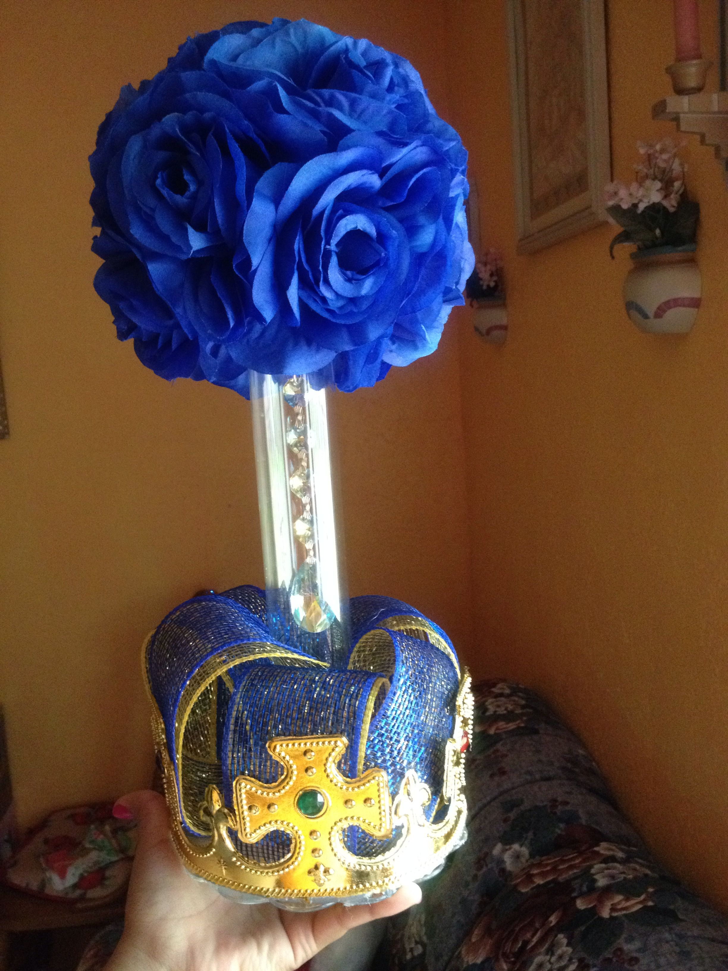 Royal Baby Shower Centerpieces Diy Total Cost $7 9 (Gold Floral