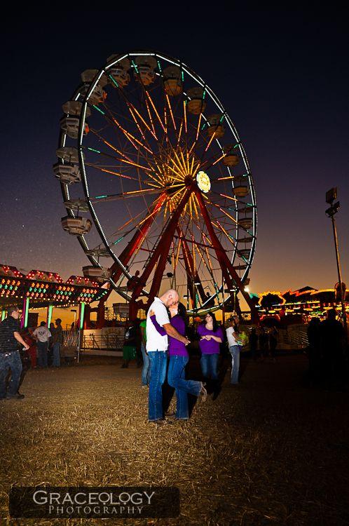 Barbara | Travis | Cotton Candy, Ferris Wheels, & a lot of LOVE.  Griffin Fair Photoshoot