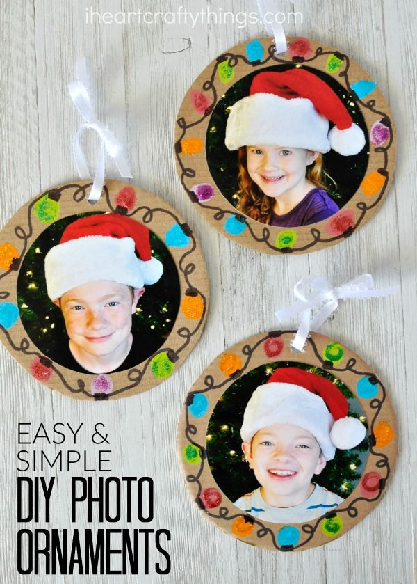 Easy DIY Christmas Photo Ornaments | Christmas gifts for ...