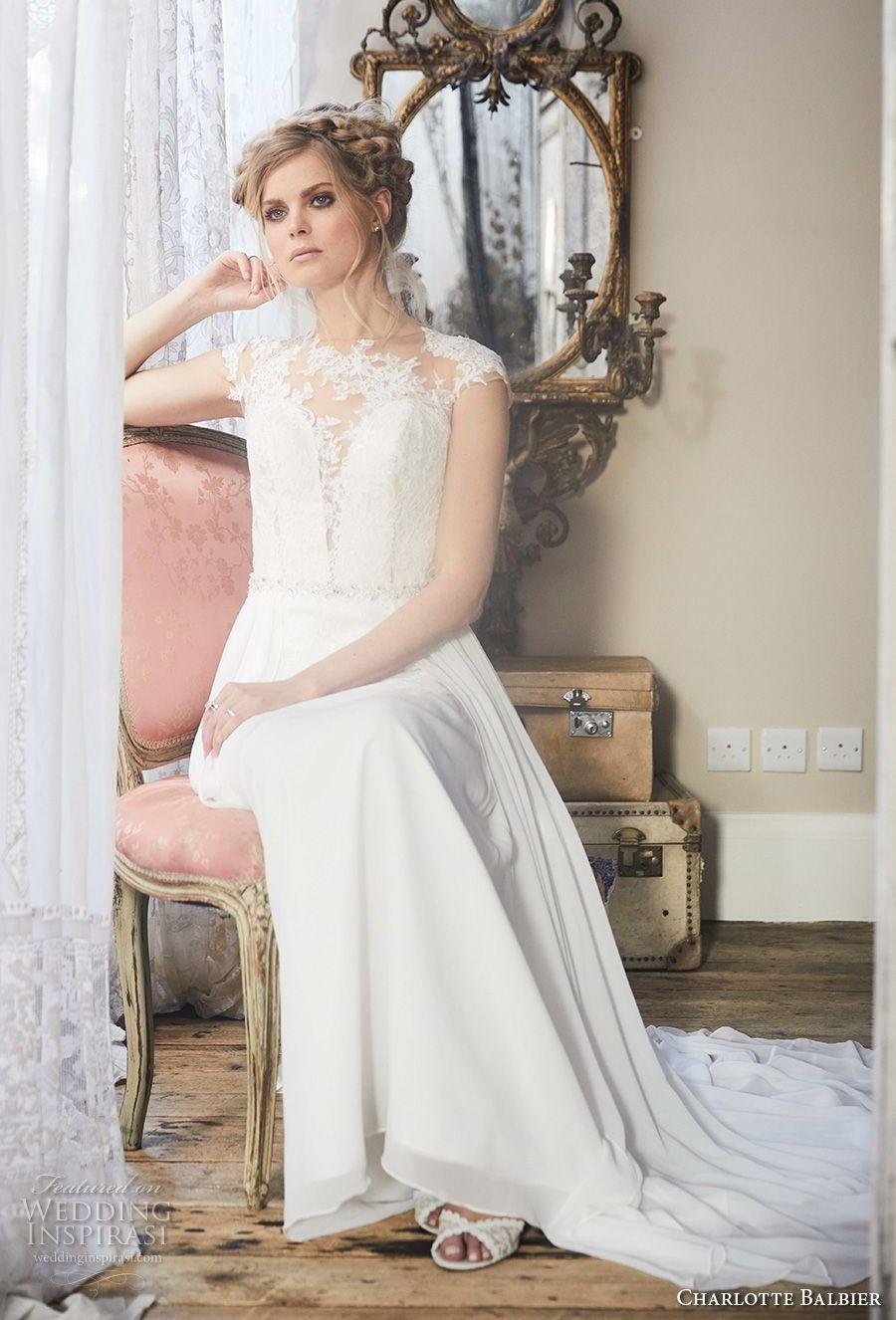 Flowy wedding dress with sleeves  Charlotte Balbier  Wedding Dresses u ucBohemian Blushud Bridal