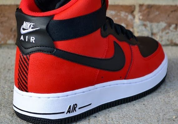Nike Air Force 1 High - University Red - Black - SneakerNews.com