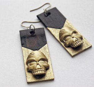 Free project: Chic Dollar Store Skull Earrings - These DIY earrings are perfect for Halloween but are edgy enough to be rocked year-round!