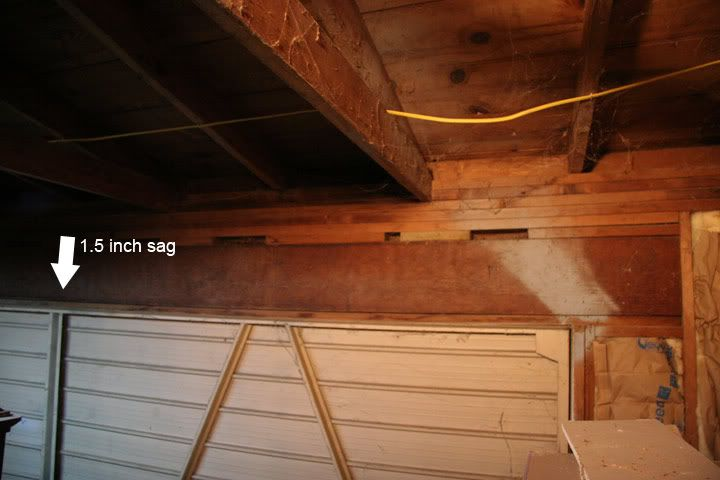 Sagging Garage Door Header Door Header Garage Doors Garage