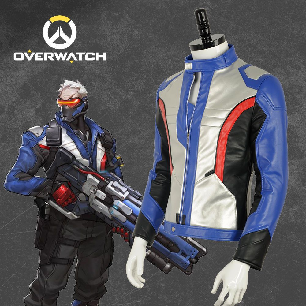 1ce018a1c OW Soldier 76 Coat Cosplay Costume Custom Size Men Just Jacket Adult ...