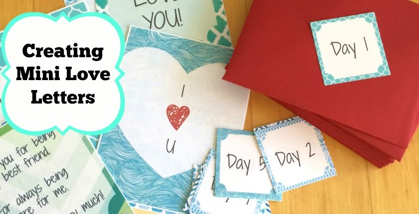 I Created Mini Love Letters For My Husband To Show Him How Much I