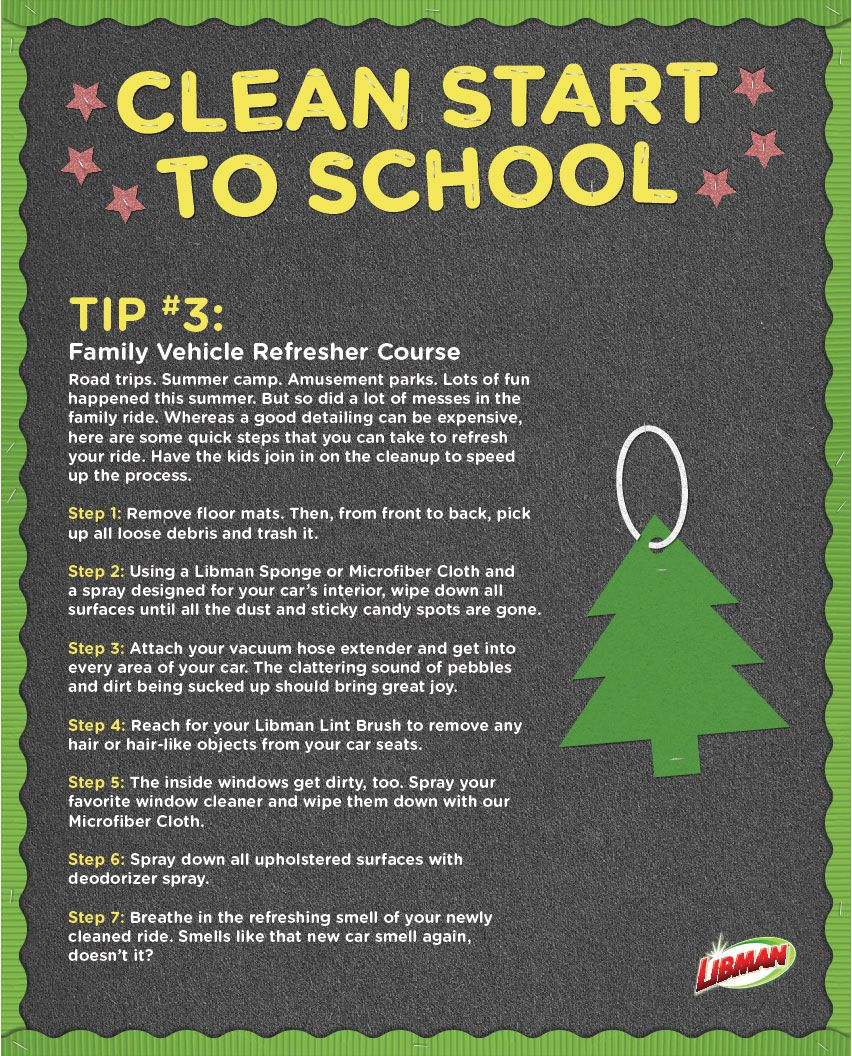 Find back to school themed tips and a chance to win your student's school one of 3 Libman Cleaning Kits. Enter today: http://on.fb.me/1NvQwXz Pinned from Uploaded by user