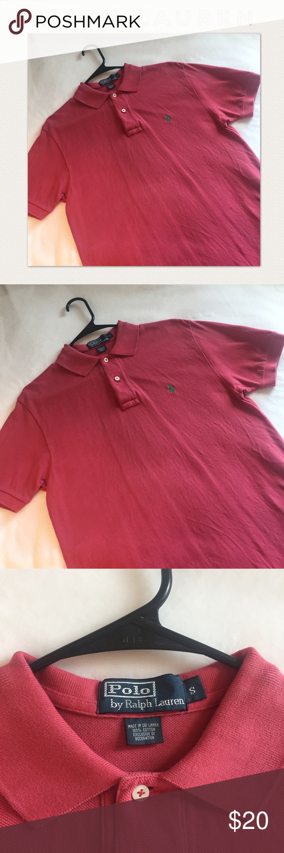 6b8fdf0f8 Ralph Lauren Men's Polo Shirt In great used condition! Size Small. Color  carnation pink. 2 items - add to bundle for a special discount.