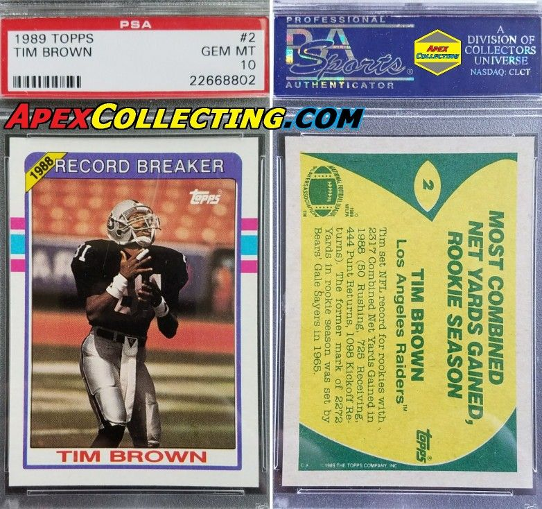 Hall of Famer Tim Brown nfl football raiders oakland