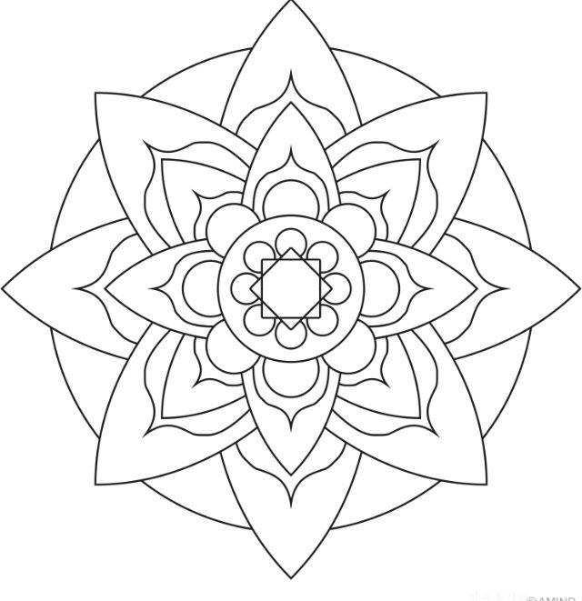 Pin Von Niki Carey Auf Art Mandala Malvorlagen Einfaches Mandala Malvorlagen Blumen