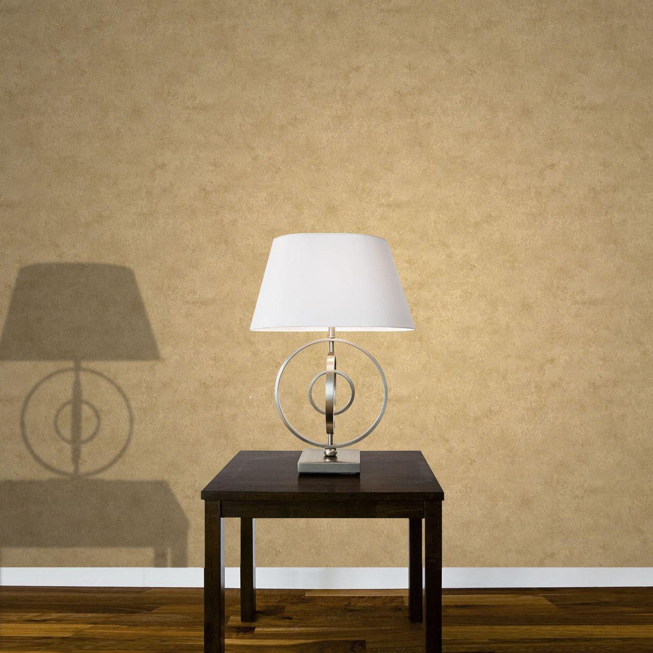 Baylis Aged Metal Effect Marble Metallic Gold Wallpaper by Crown ...
