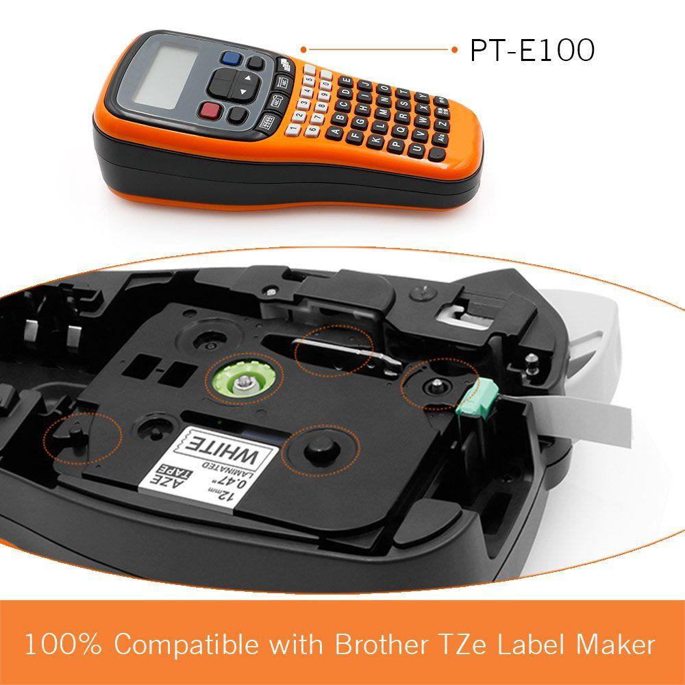 Startup P Touch Label Tapes Tz Tze 231 Tze 231 Standard Laminated Label Cassette Compatible With Brother P Touch Pt D210 Pth110 1 Compatibility Cassette Black